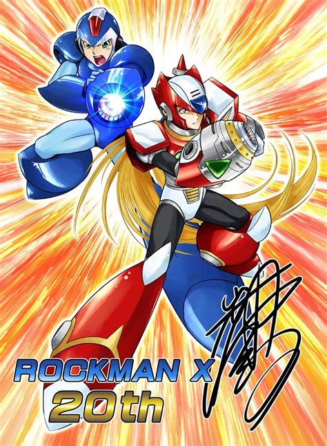 Rockman Corner Mega Man X 20th Anniversary Tribute Art