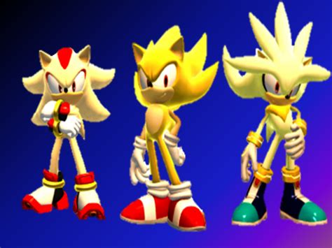 Sonic The Hedgehog Hd Wallpaper Super Sonic Shadow And Silver Wallpaper By 9029561 On Deviantart