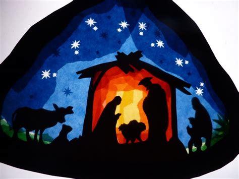 Fensterbilder Weihnachten Vorlagen Krippe by Fensterbild Krippe Krippen Papierkrippen Paper