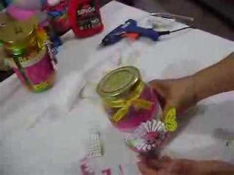paso a paso de como hacer un frasco dulcero para toda
