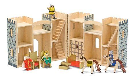 amazoncom melissa doug fold  wooden castle