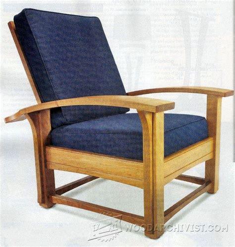 morris chair recliner plans morris chair plans woodarchivist