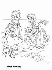 Ausmalbilder Fr Kinder Elsa Olaf Und Anna