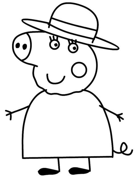 disegno da stare peppa pig disegno di nonna pig da colorare