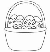 Easter Basket Coloring Pages Eggs Egg sketch template