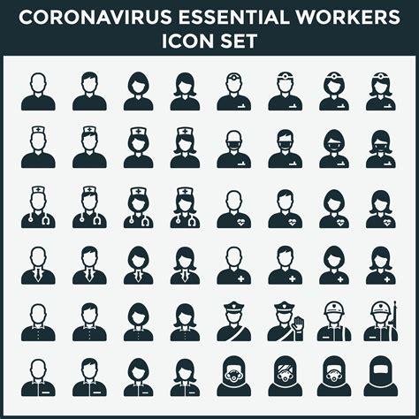 essential workers coronavirus vector icon clipart vectors graphics resources