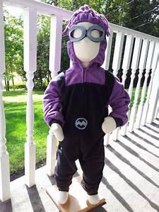 Child Size 2T/3 Evil Purple Minion Costume For Halloween ...