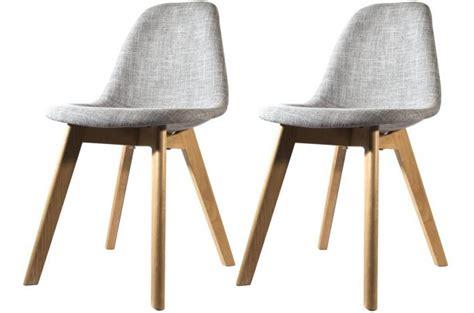 couleur chambre romantique lot de 2 chaises scandinave en tissu grise design