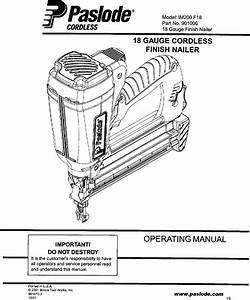 Paslode Nailer Manual L0410029