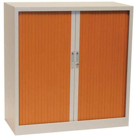 armoire 192 rideaux basse bicolore manutan comparer les