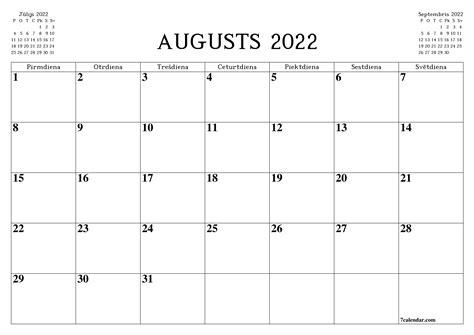 Bezmaksas izdrukājams tukšs mēneša kalendārs un plānotājs ...