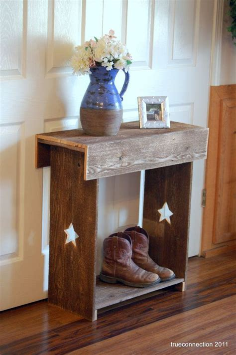 primitive country table ls console table stars reclaimed wood wall runner shoe