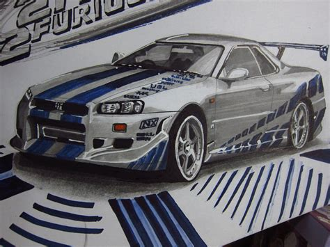Skyline Paul Walker by Nissan Skyline R34 Gtr Paul Walker By V3110z On