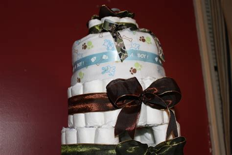 baby boy camouflage diaper cake  diaper cakes