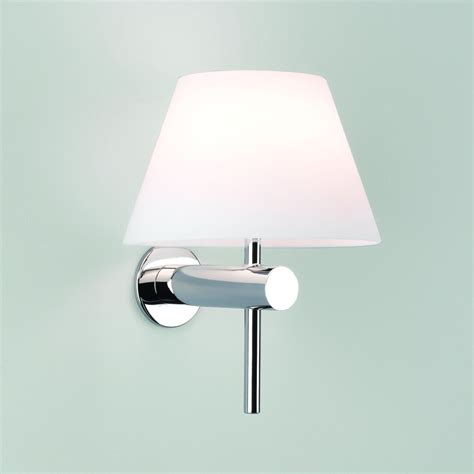 bathroom wall light with coolie shade