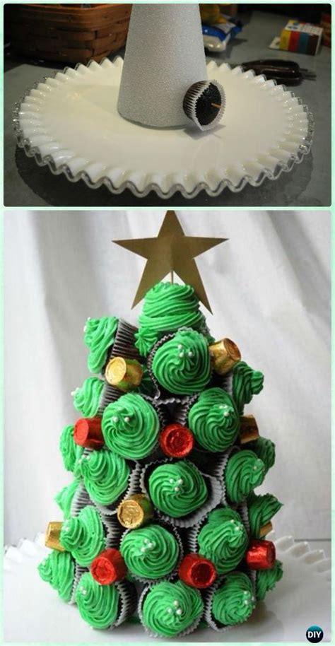 diy pull  christmas cupcake cake design ideas