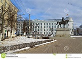 Tver, Ρωσία - 27 Φεβρουαρίου 2016 μνημείο στον ιδρυτή της ...