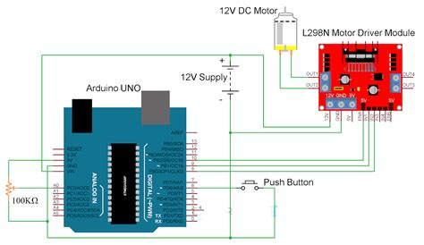 Arduino Uno Circuit Diagram Pdf by Arduino Dc Motor Using L298n Motor Driver