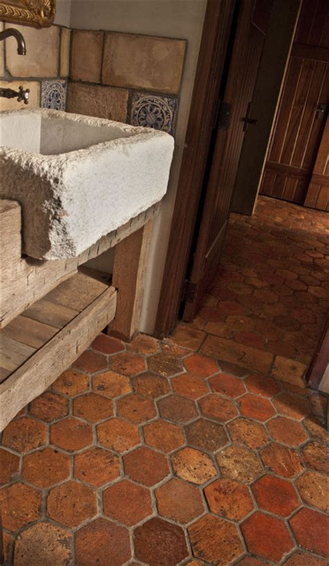 guesthouse  reclaimed french terracotta flooring