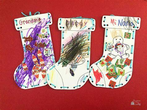 Kids Christmas Stocking Paper Craft