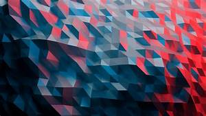 Wallpaper, Illustration, Abstract, Red, Low, Poly
