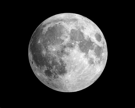 Full Moon Solar System Milky Way Galaxy Outer Space