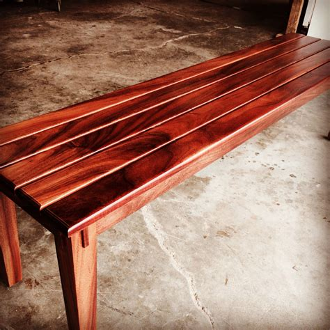 ultimate koa bench    craftsmen koa wood