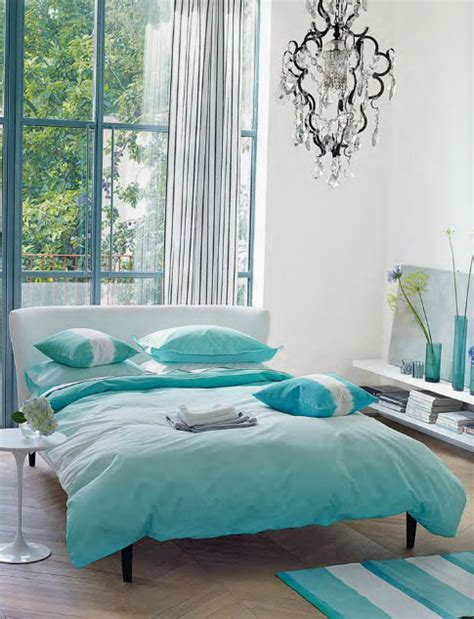 Contemporary Bedroom In Turquoise  Interiors By Color