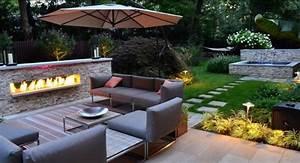 tolle ideen zum terrasse gestalten in verschiedenen stilen With französischer balkon mit feuer deko garten