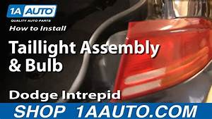 How To Install Replace Taillight Assembly And Bulb Dodge Intrepid 98-04 1aauto Com