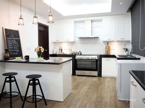 Modern English Kitchen Design In Ampang Design Flooring Ideas For New House Shaw Hand Scraped Hardwood Supplies North London Oak Cheap Vinyl Plank Distributors Cherry Hill Floors Ct Mohawk Zanzibar Linoleum Living Room