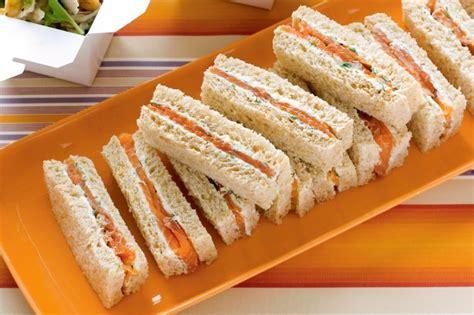 finger sandwiches salmon and herb cream finger sandwiches recipe taste com au