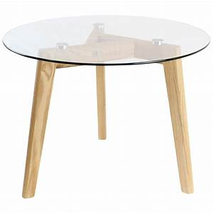 Hartleys solid oak and glass small round top chic side end for Circular glass top coffee table