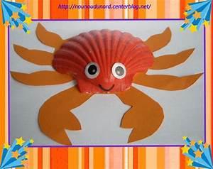 Activité Manuelle été : petit crabe avec une coquille st jacques explications sur ~ Melissatoandfro.com Idées de Décoration