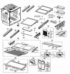 Samsung Rf260beaesr Evaporator Cover Assembly