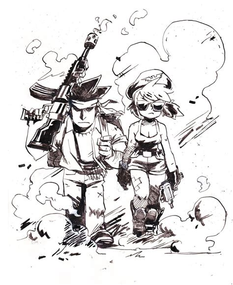 chatons laser   inks comic panel illustrations