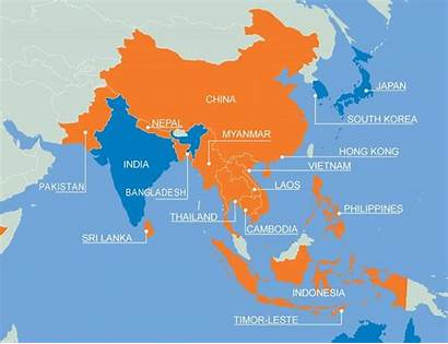 Asia Map Names Plan Countries Region Where