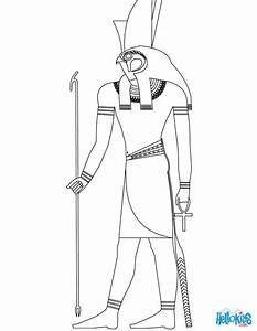 Horus egyptian god coloring pages - Hellokids.com