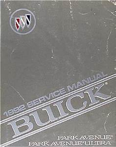 1992 Buick Lesabre Repair Shop Manual Original