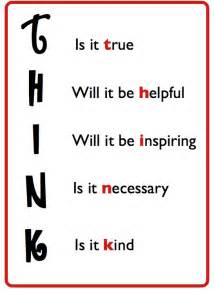 Think Before You Speak Acronym