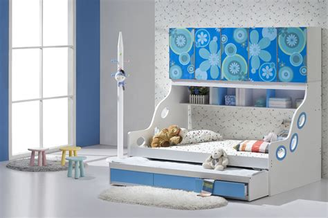 blue bedroom decorating ideas trundle beds for children to create an accessible bedroom