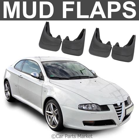 mud flaps splash guard  alfa romeo gt coupe brera set