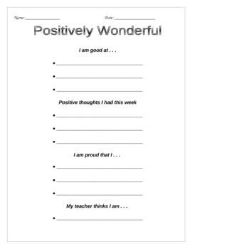 Self Esteem Positive Thinking Worksheets  Building Self Esteem  Pinterest Worksheets
