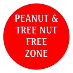 Peanut Tree Nut Free Zone Sign