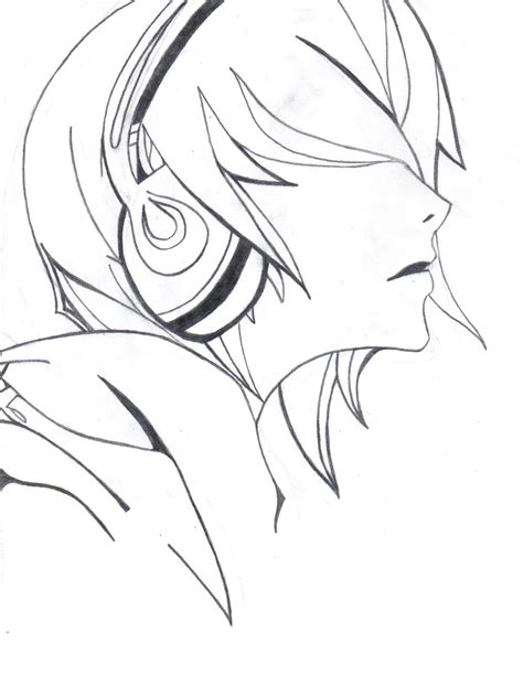 anime cool boy drawing cool anime boy with headphones drawing drawings inspiration