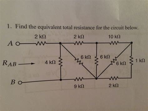 Find The Equivalent Total Resistance For Circuit