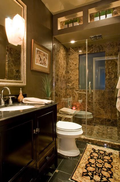 dramatic masculine bathroom designs    inspired