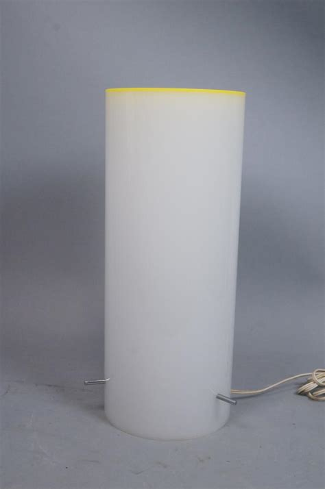 cylinder l shades for table ls tall plastic cylinder table l yellow lip rim