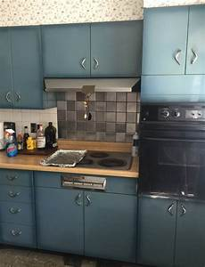 Burnt Blue Youngstown Steel Kitchen Cabinets What A