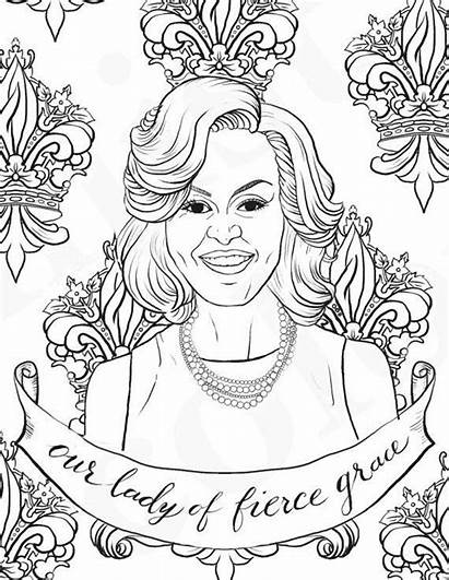 Coloring Printable Sheets Power Obama Michelle Celebrate